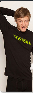 tee shirt poker homme
